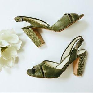 Elie Tahari 1940's style slingback heels